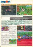 Scan of the review of Paper Mario published in the magazine Consoles News 48, page 1