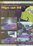 Scan of the preview of WipeOut 64 published in the magazine Ultra 64 1