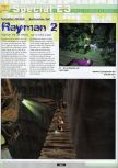 Scan of the preview of Rayman 2: The Great Escape published in the magazine Ultra 64 1