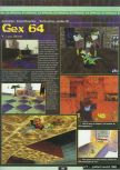 Scan of the preview of Gex 64: Enter the Gecko published in the magazine Ultra 64 1