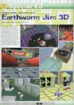 Scan of the preview of Earthworm Jim 3D published in the magazine Ultra 64 1