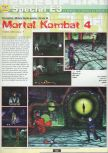 Scan of the preview of Mortal Kombat 4 published in the magazine Ultra 64 1
