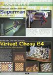Scan of the preview of Virtual Chess 64 published in the magazine Ultra 64 1
