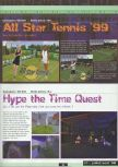 Scan of the preview of All Star Tennis 99 published in the magazine Ultra 64 1