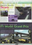 Scan of the preview of F-1 World Grand Prix published in the magazine Ultra 64 1