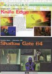 Scan of the preview of Knife Edge published in the magazine Ultra 64 1