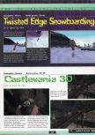 Scan of the preview of Castlevania published in the magazine Ultra 64 1