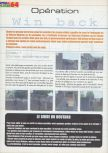Scan of the walkthrough of Operation WinBack published in the magazine Actu & Soluces 64 02, page 1