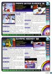 Scan of the review of Olympic Hockey Nagano '98 published in the magazine Nintendo Power 105