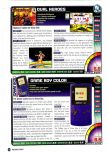 Scan of the review of Dual Heroes published in the magazine Nintendo Power 114