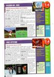 Scan of the review of Madden NFL 2000 published in the magazine Nintendo Power 124, page 1