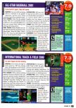 Scan of the review of All-Star Baseball 2001 published in the magazine Nintendo Power 131, page 1