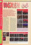 Scan of the review of Hexen published in the magazine Gameplay 64 02, page 1
