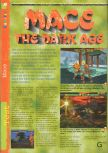 Scan of the review of Mace: The Dark Age published in the magazine Gameplay 64 03, page 1