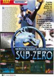 Scan of the review of Mortal Kombat Mythologies: Sub-Zero published in the magazine Le Magazine Officiel Nintendo 06
