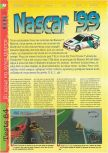 Scan of the review of NASCAR '99 published in the magazine Gameplay 64 09, page 1