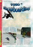 Scan of the review of 1080 Snowboarding published in the magazine Gameplay 64 10, page 1