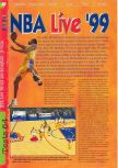 Scan of the review of NBA Live 99 published in the magazine Gameplay 64 11