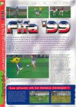 Scan of the review of FIFA 99 published in the magazine Gameplay 64 13