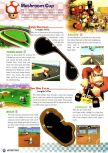 Scan of the walkthrough of Mario Kart 64 published in the magazine Nintendo Power 93