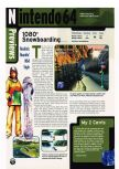 Scan of the preview of 1080 Snowboarding published in the magazine Electronic Gaming Monthly 105, page 1