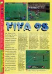 Scan of the review of FIFA 98: Road to the World Cup published in the magazine Gameplay 64 04, page 1