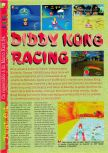 Scan of the review of Diddy Kong Racing published in the magazine Gameplay 64 04, page 1