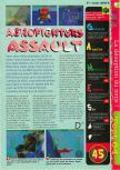 Scan of the review of Aero Fighters Assault published in the magazine Gameplay 64 04