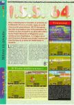 Scan of the review of International Superstar Soccer 64 published in the magazine Gameplay 64 01, page 1