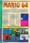 Scan of the review of Super Mario 64 published in the magazine Gameplay 64 01