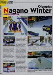 Scan of the preview of Nagano Winter Olympics 98 published in the magazine Consoles News 18