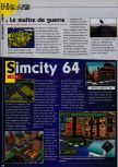 Scan of the preview of Sim City 64 published in the magazine Consoles News 18