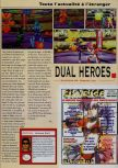 Scan of the review of Dual Heroes published in the magazine Consoles News 18