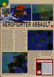 Scan of the review of Aero Fighters Assault published in the magazine Consoles News 18