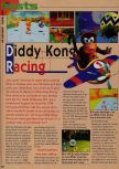 Scan of the review of Diddy Kong Racing published in the magazine Consoles News 18, page 1