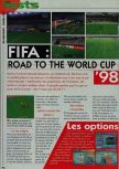 Scan of the review of FIFA 98: Road to the World Cup published in the magazine Consoles News 18, page 1