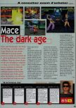 Scan of the review of Mace: The Dark Age published in the magazine Consoles News 18, page 1