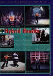 Scan of the preview of Hybrid Heaven published in the magazine Consoles News 14, page 1