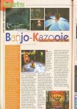 Scan of the review of Banjo-Kazooie published in the magazine Consoles News 25