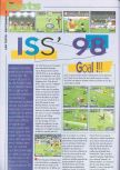 Scan of the review of International Superstar Soccer 98 published in the magazine Consoles News 25