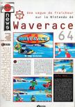 Scan of the preview of Wave Race 64 published in the magazine Joypad 057
