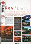 Scan of the preview of Rev Limit published in the magazine Joypad 057