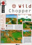 Scan of the preview of Chopper Attack published in the magazine Joypad 057