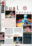 Scan of the preview of Dual Heroes published in the magazine Joypad 057
