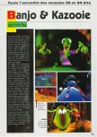 Scan of the preview of Banjo-Kazooie published in the magazine Consoles News 24