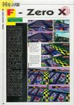 Scan of the preview of F-Zero X published in the magazine Consoles News 24