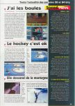 Scan of the preview of Olympic Hockey Nagano '98 published in the magazine Consoles News 24