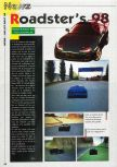 Scan of the preview of Roadsters published in the magazine Consoles News 24