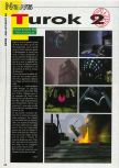 Scan of the preview of Turok 2: Seeds Of Evil published in the magazine Consoles News 24