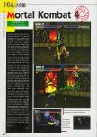 Scan of the preview of Mortal Kombat 4 published in the magazine Consoles News 24